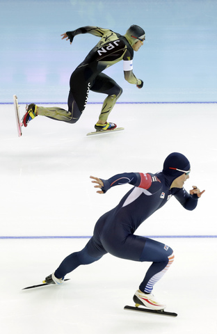APTOPIX Sochi Olympics Speedskating Men