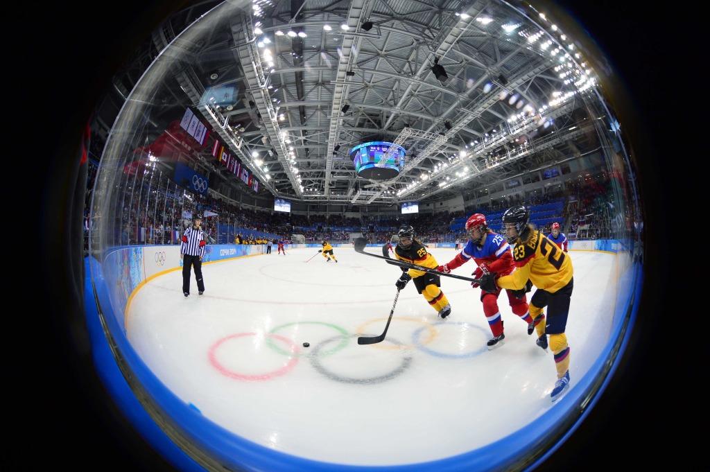 Olympics: Ice Hockey-Women's Prelim Round-RUS vs GER